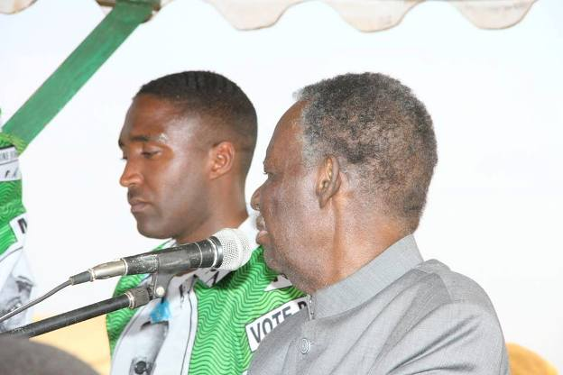 Sata with the PF Candidate at the rally