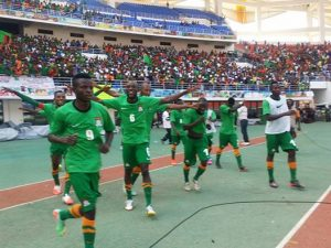 Chipolopolo Boys celebrate after scoring