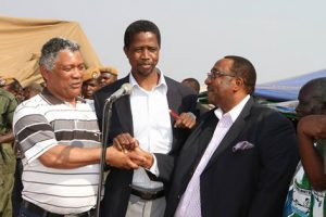 Given Lubinda, Edgar Lungu and GBM at rally addressed by Sata