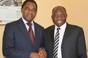HH with ADD president Charles Milupi after a media briefing
