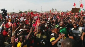 Part of the crowd that attended the UPND rally
