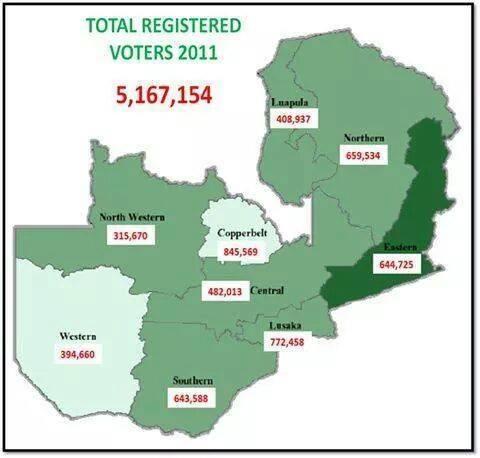 Map voter register