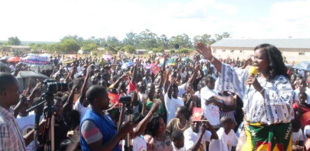 Maureen Mwanawasa addressing a rally