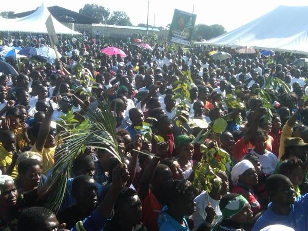 Part of the crowd that attended Nawakwi's rally