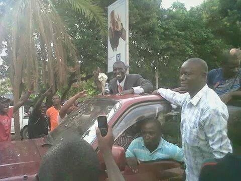 Muliokela passing through central district of Lusaka
