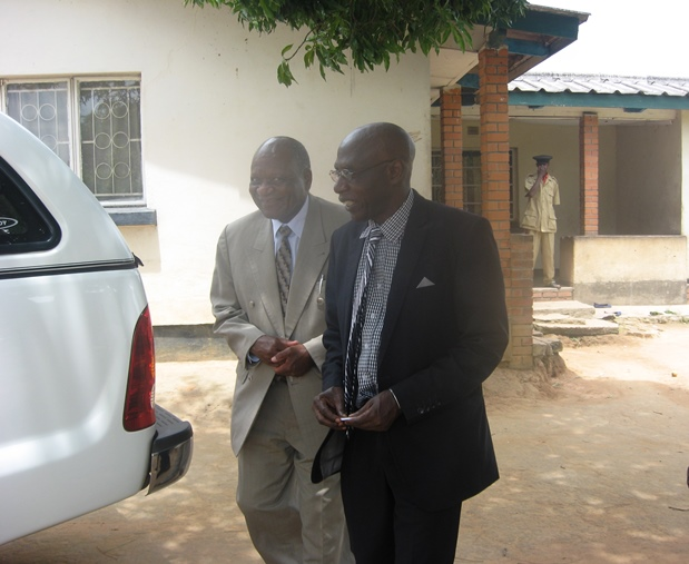Dr. Sondashi & Kanyanta after the latter paid a courtesy        call at his residence in Kasama,Monday