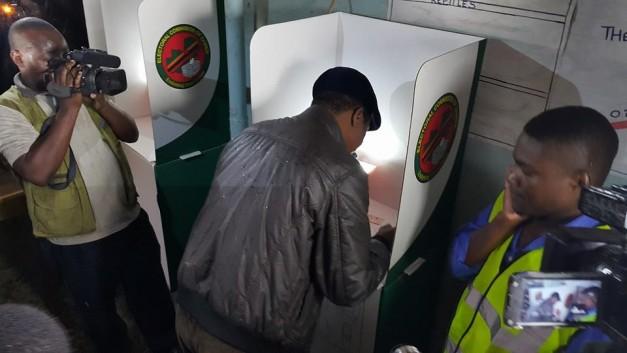 Lungu voting