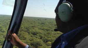 HH in a helicopter