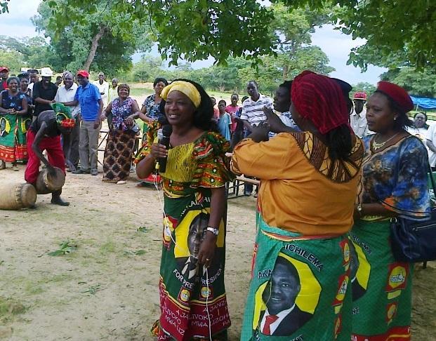 Mutinta Hichilema campaigning in Nangoma