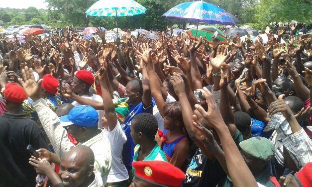 The crowds at Sesheke rally