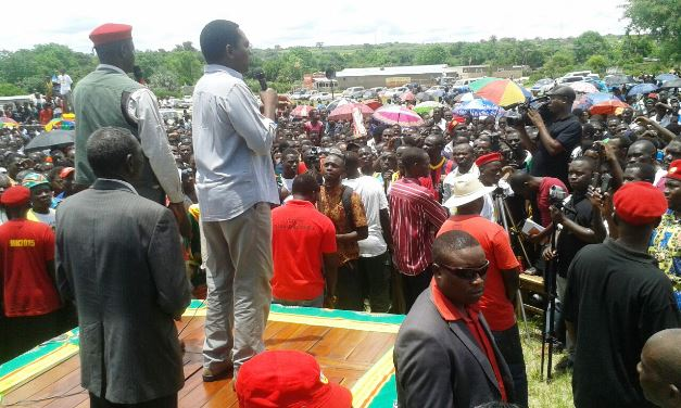 HH addressing a rally in Sesheke