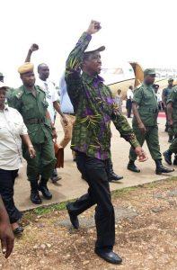 File: Lungu leaving Mfuwe
