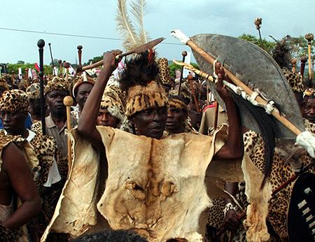 File: Paramount Chief Mpezeni during N'cwala