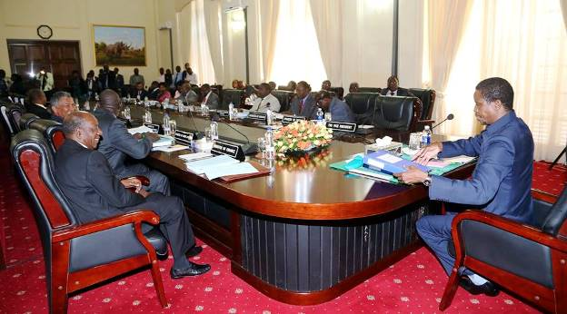 File: President Lungu addressing a Cabinet meeting. Photo - State House