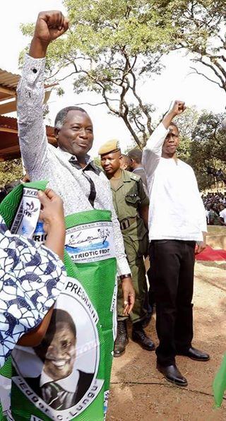 Kapita with President Lungu