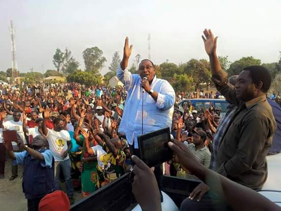 HH and GBM campaigning in Mufulira