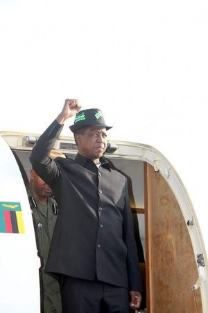 Lungu arrives in Ndola. Photo - State House