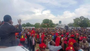 HH addressing supporters