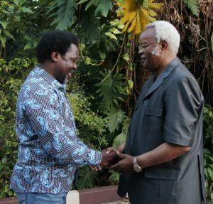 TB Joshua With Opposition Leader Edward Lowassa