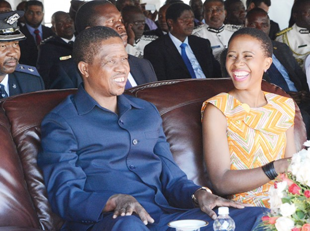 President Lungu with his daughter Tasila