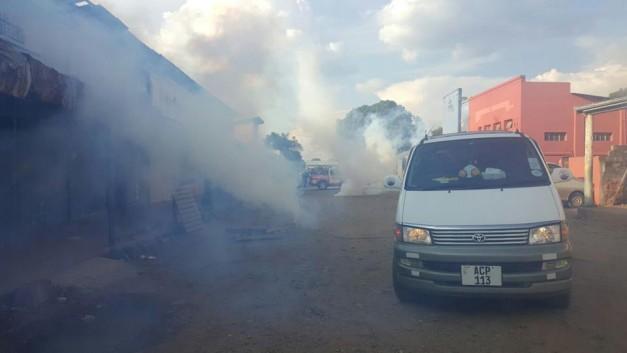 Teargas in Luanshya. 1