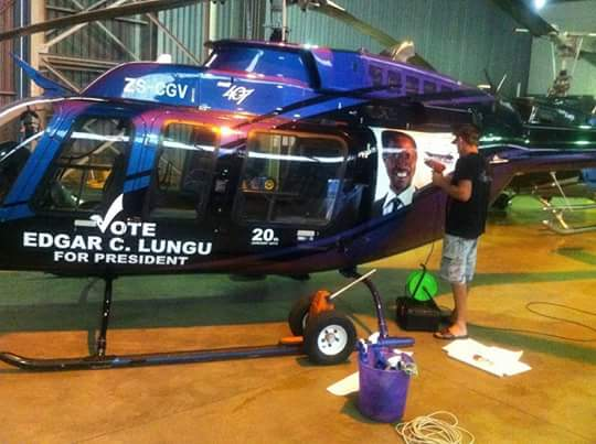Lungu's campaign plane