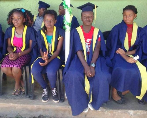 Graduating pupils