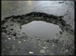 Chingola road pothole