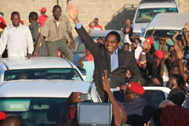 HH waves at supporters in Kafue