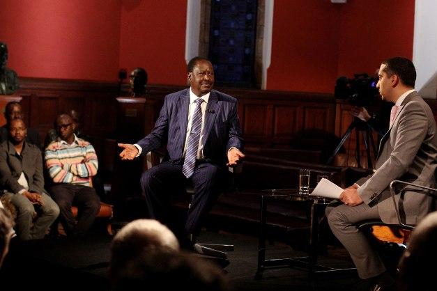 Raila Odinga on Head to Head programme