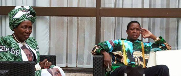 President Lungu with his running mate Inonge Wina