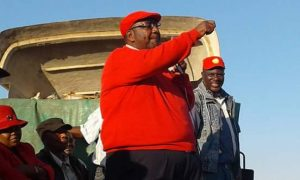 GBM addressing a rally in Ndola central