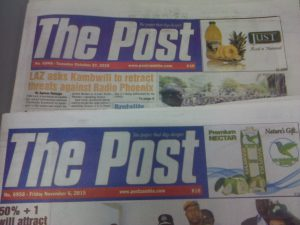 ZRA closed The Post Newspaper