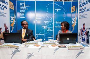 Proflight Zambia representatives Lameck Mwansa and Mwate Van-Rietvelde at ZATEX