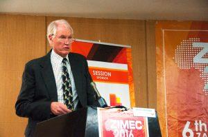 First Quantum Minerals Chief Operating Officer Matt Pascall speaking at ZIMEC
