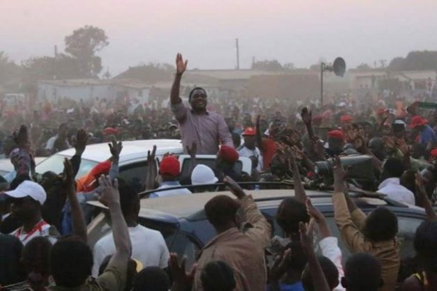 HH arriving at a rally in Kitwe