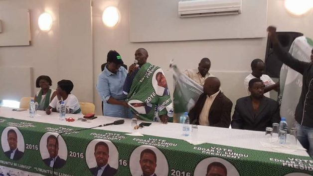 Edwin Lifwekelo being welcomed to PF