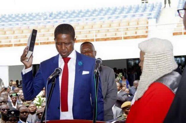 President Lungu taking oath