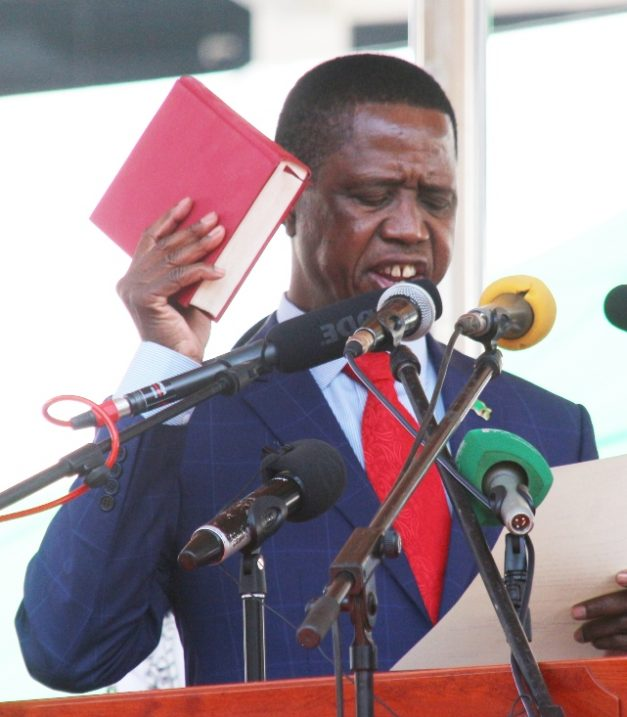 President Lungu taking oath of office