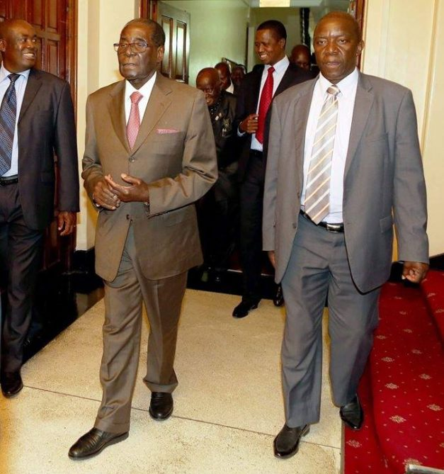 Mugabe is in Lusaka to attend the inauguration of Lungu