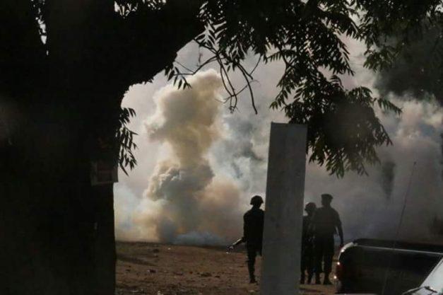 Police fire teargas
