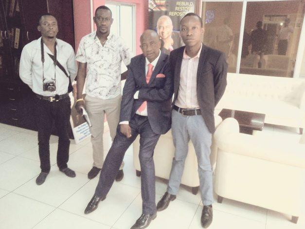 From Left to Right (Leonard Sakala, Kakosa Nsofwa, Philip Chiyangwa and Chipindi Caleb Fundanga)