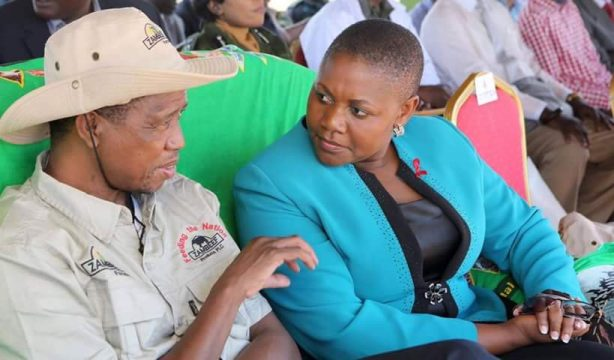 Kusene with President Lungu at the launch of 2016, 2017 planting season on December 1