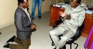 Today's Photo: Minister on his knees before Lungu