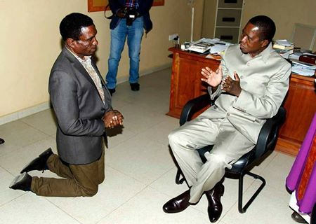 Lungu talking his Minister