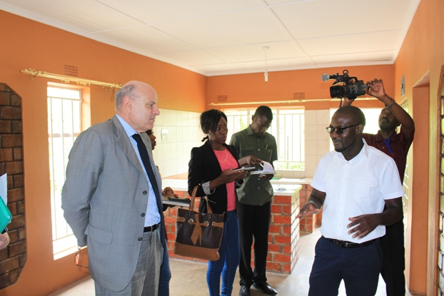 Minister of State for Development and Francophonie, Hon. Jean-Marie LE GUEN listens to Mwenya Nsakilwa
