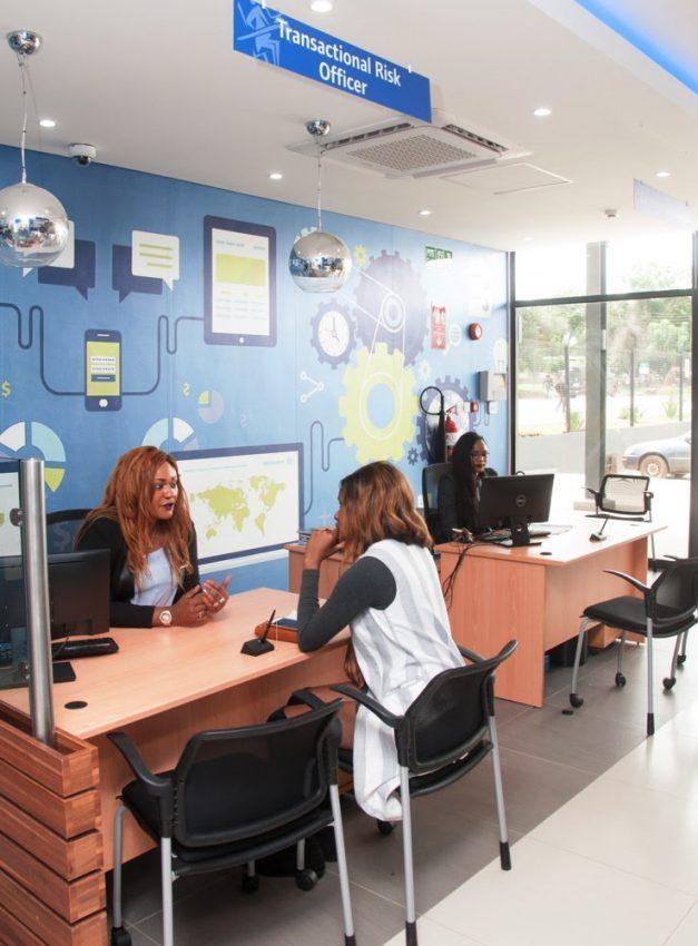 Stanbic Bank's new Kabulonga branch.