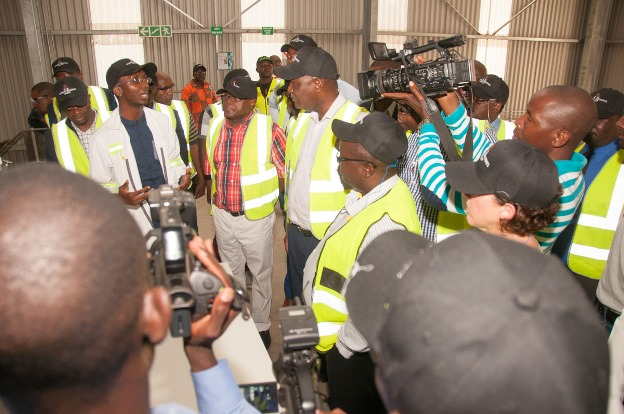 Media covering the visit of Finance Minister Hon. Felix Mutati to Zambian Breweries' Ndola plant last year.