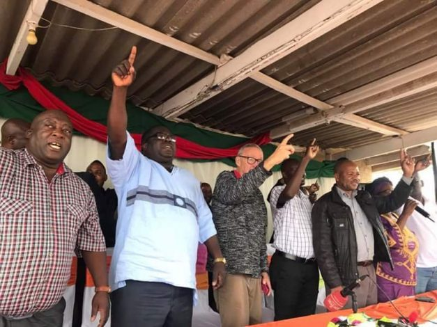 Kambwili addresses a meeting, warns that he will deal with Lungu