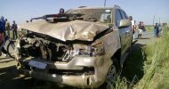 Minister Hamukale in an accident